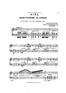 Potpourri on Themes from 'Aida' by Verdi, Op.215: Para Piano by Charles Dupee Blake