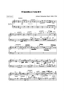 No.9 in F Minor, BWV 795: para teclado by Johann Sebastian Bach