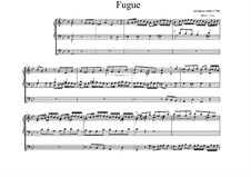 Aus der Tiefen rufe ich, Herr, zu dir, BWV 131: Fugue para órgão by Johann Sebastian Bach