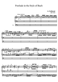 Postlude in the Style of Bach: Postlude in the Style of Bach by Alexandre Guilmant