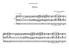Ecole d'orgue: Final by Jacques-Nicolas Lemmens