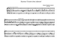 Ecole d'orgue: Hymn 'Creator alme siderum' by Jacques-Nicolas Lemmens