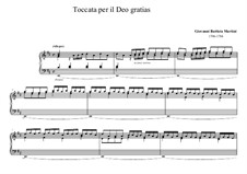Toccata per il deo gratias: Toccata per il deo gratias by Giovanni Battista Martini