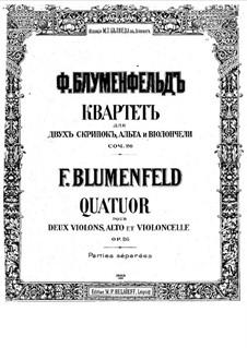 String Quartet, Op.26: Quarteto de cordas by Felix Blumenfeld