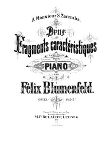 Two Characteristic Fragments, Op.33: Two Characteristic Fragments by Felix Blumenfeld