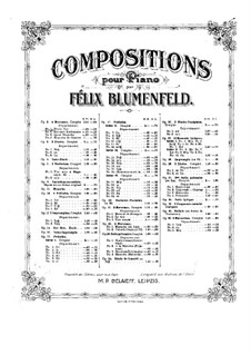 Four Pieces, Op.2: set completo by Felix Blumenfeld