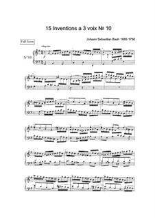 No.10 in G Major, BWV 796: para teclado by Johann Sebastian Bach