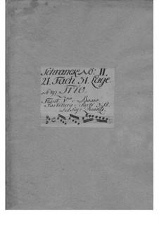 Trio Sonata for Violin, Flute and Basso Continuo in D Major, QV 2:9: partes by Johann Joachim Quantz