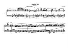 Fantasia No.1 for piano, MVWV 580: Fantasia No.1 for piano by Maurice Verheul