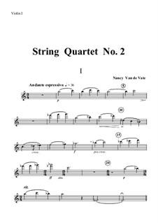String Quartet No.2a: partes by Nancy Van de Vate
