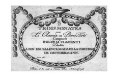 Three Sonatas, Op.10: Three Sonatas by Muzio Clementi