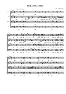 Ha Lachma 'Anya, Op.25: Ha Lachma 'Anya by Dov Rosenschein