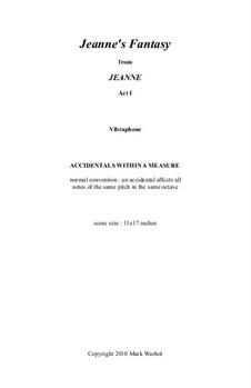 Jeanne: Jeanne's Fantasy – vibraphone part by Mark Warhol
