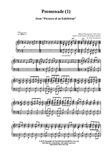 Promenade, No.2 The Old Castle: Para Piano by Modest Mussorgsky