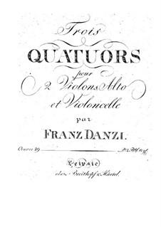 Three String Quartets, Op.29: Três Quartetos de Cordas by Franz Ignaz Danzi