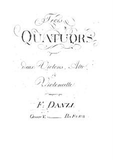 Three String Quartets, Op.5: Três Quartetos de Cordas by Franz Ignaz Danzi