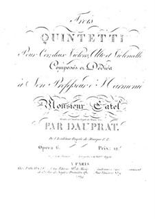 Three Quintets for French Horn and Strings, Op.6: Three Quintets for French Horn and Strings by Louis-François Dauprat