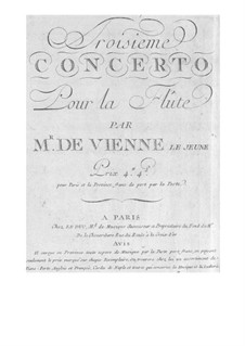 Concerto for Flute and Orchestra No.3 in G Major: Concerto for Flute and Orchestra No.3 in G Major by François Devienne