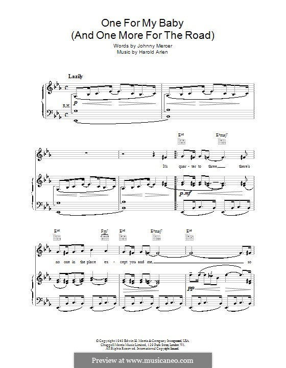 One for My Baby (And One More for the Road): para voz, guitarra e piano (frank sinatra) by Harold Arlen