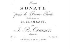 Grand Sonata, Op.20: Grand Sonata by Johann Baptist Cramer