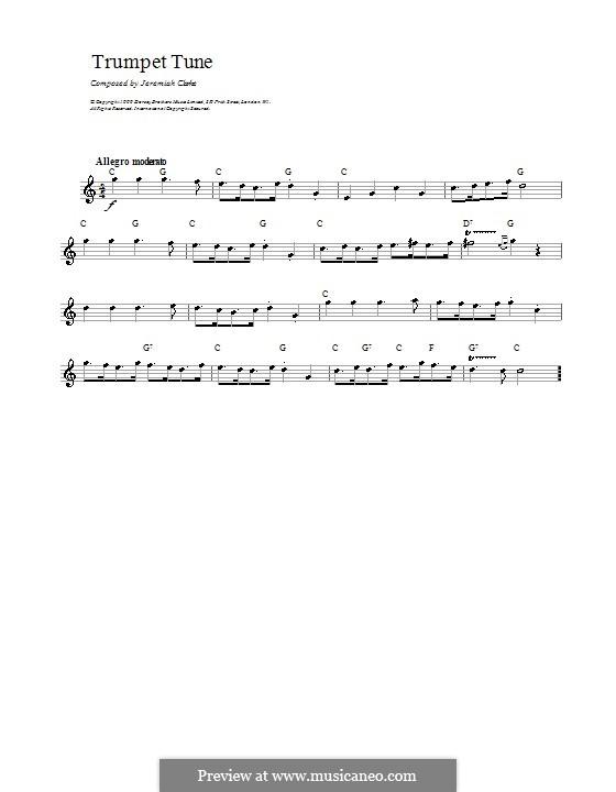 Trumpet Tune: Letras e Acordes by Jeremiah Clarke