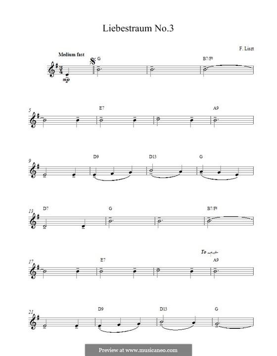 Nocturne No.3: melodia e acordes by Franz Liszt