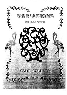 Variations Brillantes, Op.14: Variations Brillantes by Carl Czerny