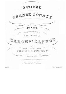 Sonata for Piano No.11 in D Flat Major, Op.730: Sonata for Piano No.11 in D Flat Major by Carl Czerny