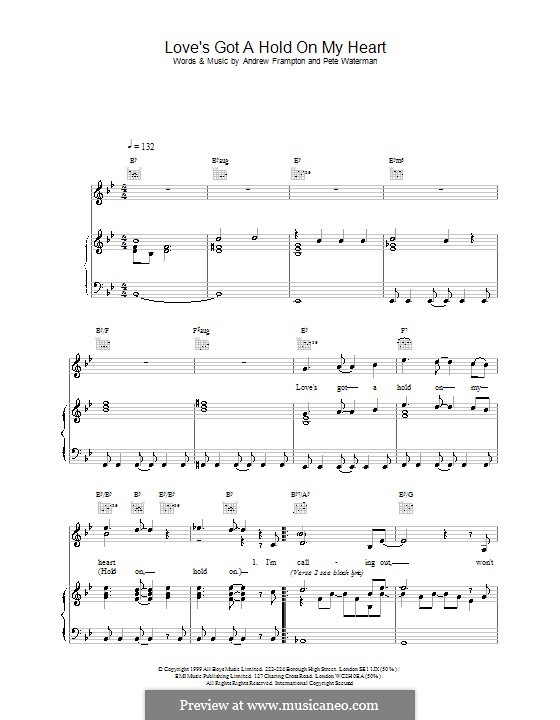 Love's Got a Hold on My Heart (Steps): Para vocais e piano (ou Guitarra) by Andrew Frampton, Pete Waterman