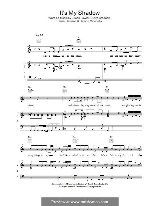 It's My Shadow (Ocean Colour Scene): Para vocais e piano (ou Guitarra) by Damon Minchella, Oscar Harrison, Simon Fowler, Steve Cradock