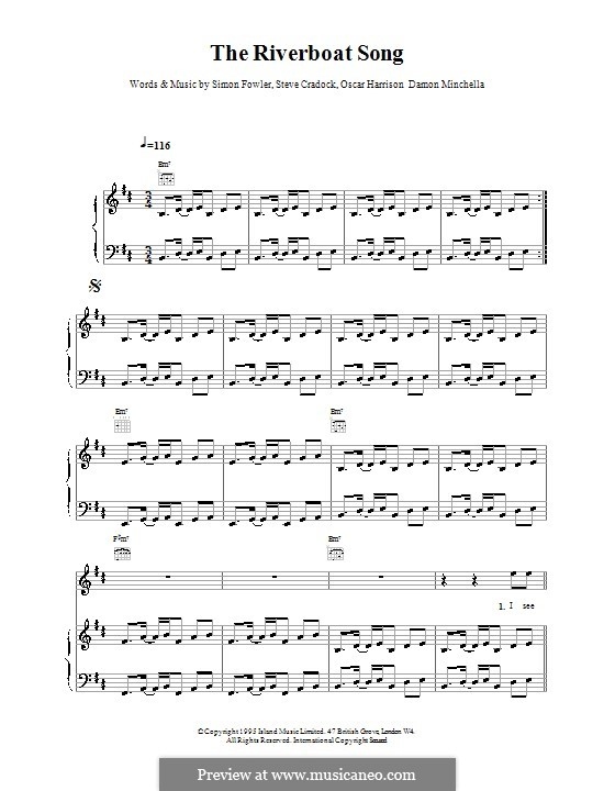 The Riverboat Song (Ocean Colour Scene): Para vocais e piano (ou Guitarra) by Damon Minchella, Oscar Harrison, Simon Fowler, Steve Cradock