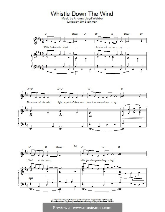 Whistle Down the Wind (from Whistle Down the Wind): Para vocais e piano (ou Guitarra) by Andrew Lloyd Webber