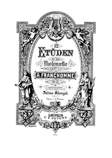 Twelve Etudes for Cello, Op.35: Twelve Etudes for Cello by Auguste Franchomme