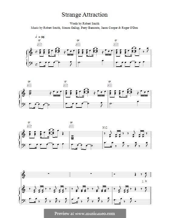 Strange Attraction (The Cure): Para vocais e piano (ou Guitarra) by Robert Gary Smith