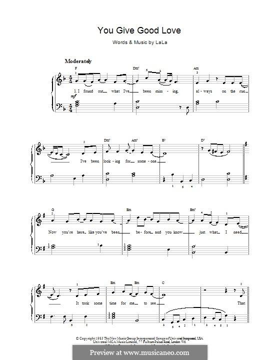 You Give Good Love (Whitney Houston): Para vocais e piano (ou Guitarra) by La Forrest Cope