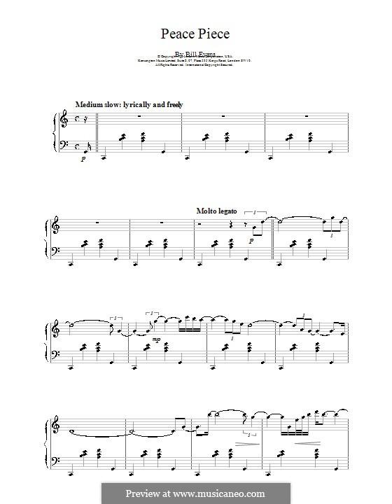 Peace Piece: Para Piano by Bill Evans