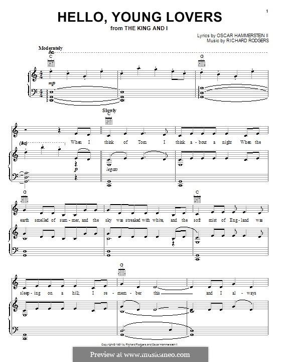Hello, Young Lovers: Para vocais e piano (ou Guitarra) by Richard Rodgers