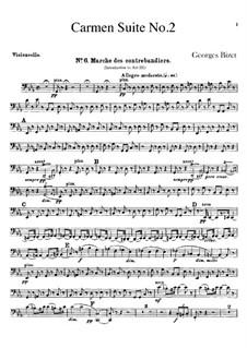 Second Suite: parte violoncelo by Georges Bizet