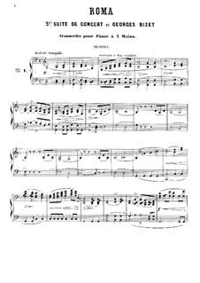 Symphony in C Major 'Roma': versão para piano de quatro mãos by Georges Bizet