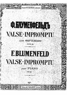 Valse-Impromptu, Op.16: Valse-Impromptu by Felix Blumenfeld
