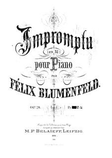 Impromptu, Op.28: Improviso by Felix Blumenfeld
