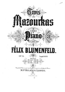 Three Mazurkas, Op.35: Three Mazurkas by Felix Blumenfeld