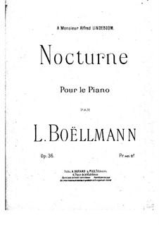 Nocturne, Op.36: noturno by Léon Boëllmann