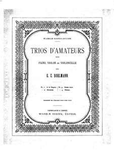 Trios d'amateurs: Trios d'amateurs by Georg Carl Bohlmann
