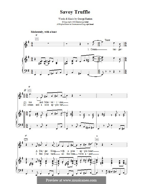 Savoy Truffle (The Beatles): Para vocais e piano (ou Guitarra) by George Harrison