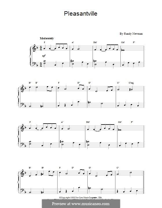 Pleasantville: Facil para o piano by Randy Newman