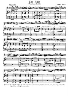 Six miniatures for Violin and Piano, Op.187: No.4 Perpetuum Mobile (Rain) by Carl Böhm