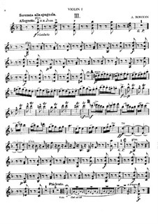 Serenata alla spagnola: partes by Alexander Borodin
