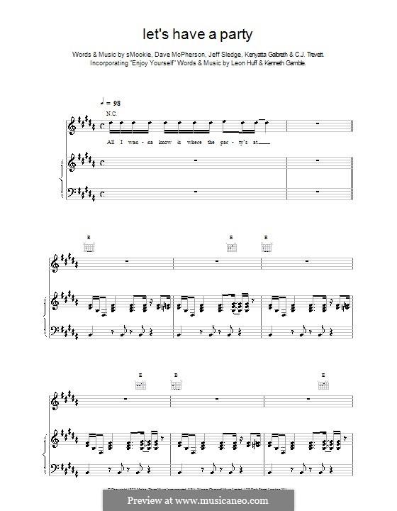 Let's Have a Party (Backstreet Boys): Para vocais e piano (ou Guitarra) by Mookie, C. J. Trevett, Dave McPherson, Jeff Sledge, Kenyatta Galbreth