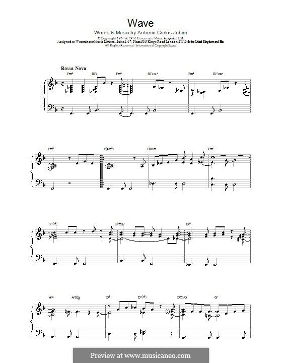 Wave: Para Piano by Antonio Carlos Jobim
